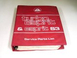 LOTUS TURBO ESPRIT&ESPRIT S3 SERVICE PARTS LIST