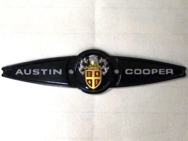 バッジ (リア) オースチン クーパー MK2 純正 未使用 英国車・MINIのレアパーツ エンブレム類(Emblem)