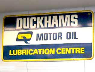 サインボード Duckhams オートモビリア 看板 サインボード(エナメル他)