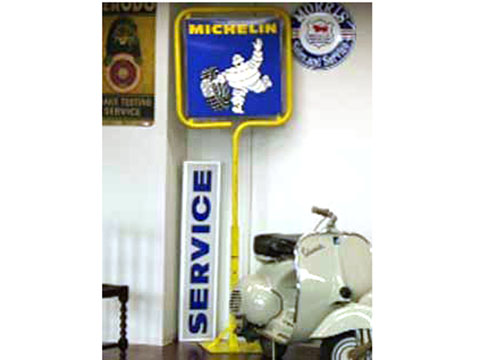 サインボード Michelin オートモビリア 看板 サインボード(エナメル他)