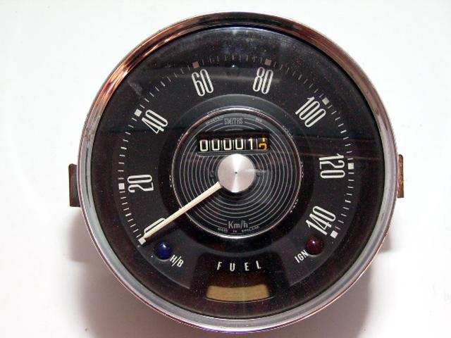 スピードメーター 140KM 純正 MK1 Smith スミス製 未使用 英国車・MINIのレアパーツ 計器類