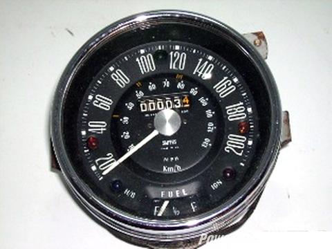 スピードメーター 200KM(Fuel付き) Smith スミス製 未使用 英国車・MINIのレアパーツ 計器類