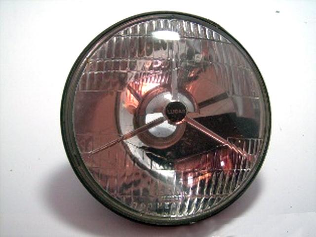 ヘッドライト Lucas 3ポイント 純正 未使用 英国車・MINIのレアパーツ ライト類