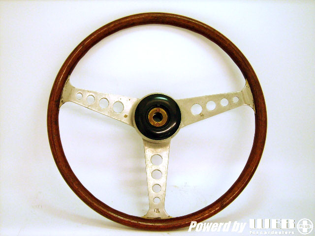 ステアリング レスレストン Mini MK1 中古品 ボス・カウル(センターモチーフ用)付 英国車・MINIのレアパーツ ステアリング