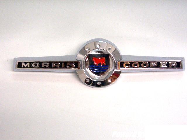 バッジ (フロント) モーリス ミニ クーパーMK1 新品 英国車・MINIのレアパーツ エンブレム類(Emblem)