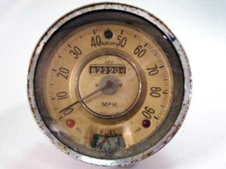 スピードメーター 90MPH モーリスマイナー 中古 英国車・MINIのレアパーツ 計器類