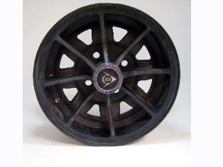 中古 アルミホイール Dunlop 5本セット 12インチ センターキャップ付き 英国車・MINIのレアパーツ ボディ&エクステリア(Body/Exterior)