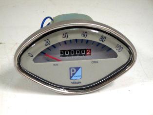 スピードメーター VEGILA(Piaggio) 未使用 英国車・MINIのレアパーツ 計器類