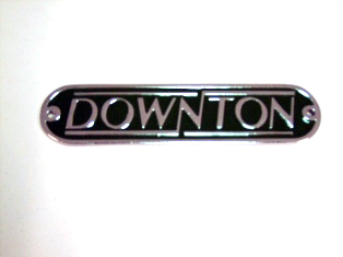 バッジ ダウントンDownton メタル レプリカ 新品 英国車・MINIのレアパーツ エンブレム類(Emblem)