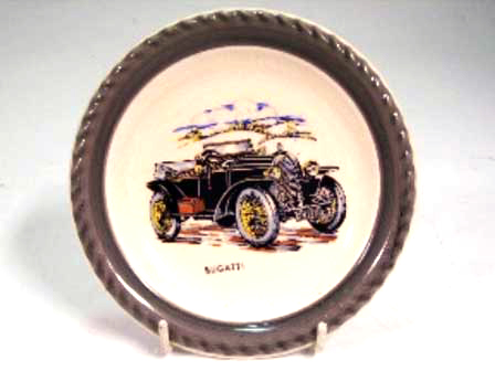 オートモビリア その他 絵皿・カップ・トロフィ Wade社 Veteran Car シリーズ 絵皿 Bugatti