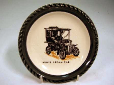 オートモビリア その他 絵皿・カップ・トロフィ Wade社 Veteran Car シリーズ 絵皿 White Steam Car
