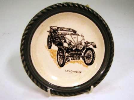 オートモビリア その他 絵皿・カップ・トロフィ Wade社 Veteran Car シリーズ 絵皿 Lanchester