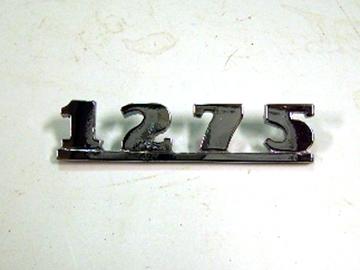 バッジ (リア) 1275 純正 未使用 英国車・MINIのレアパーツ エンブレム類(Emblem)