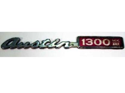 バッジ (リア) Austin 1300 MK3 ADO16 純正 中古 英国車・MINIのレアパーツ エンブレム類(Emblem)