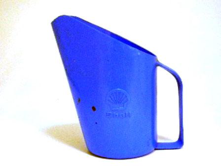 オイルジャー Shell  プラスティック 青 1リッター オートモビリア オイル オイル・ジャグ