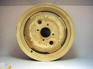 スチールホイール オースチン・ヒーレー・スプライト用 リビルト 英国車・MINIのレアパーツ ボディ&エクステリア(Body/Exterior)
