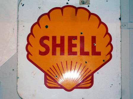 サインボード エナメル SHELL シェル オートモビリア 看板 サインボード(エナメル他)