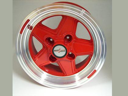 ジャックナイト(JKD)製 アロイ・ホイール タイヤ付 13x6J Marsspeed 赤 新品 4本セット MINI パーツ 通常品