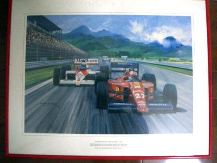 ポスター 1989 F1 Rio オートモビリア 印刷物 ポスター