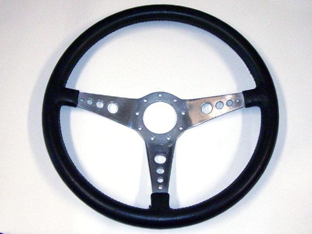 ステアリング モトリタ レザー 14インチ ボス付 中古品 英国車・MINIのレアパーツ ステアリング