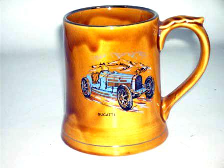 オートモビリア その他 絵皿・カップ・トロフィ Wade社 Veteran Car シリーズ マグカップ Bugatti