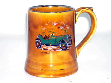 オートモビリア その他 絵皿・カップ・トロフィ Wade社 Veteran Car シリーズ マグカップ Sunbeam