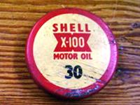 オイル・ボトル・トップ ビンテージ (Shell) 1個 オートモビリア その他 ティン(缶)