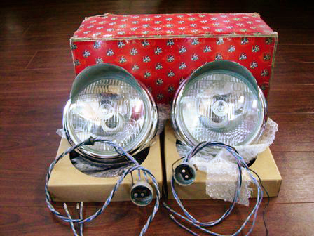 ヘッド・ランプAssy Lucas ルーカス ペア 未使用 希少品 英国車・MINIのレアパーツ ライト類