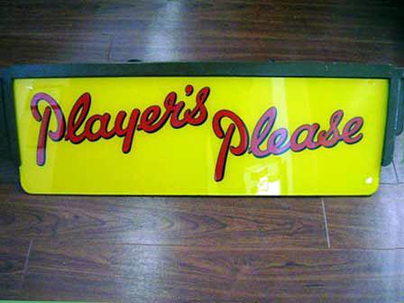 ネオン・サイン 「Player's Please」 オートモビリア 看板 サインボード(ネオン)