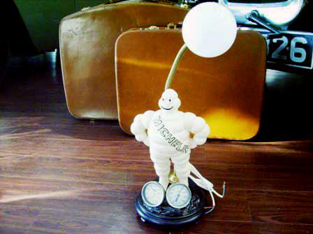ミシュラン ランプ 温度計(華氏・F)付 オートモビリア その他 キャラクター