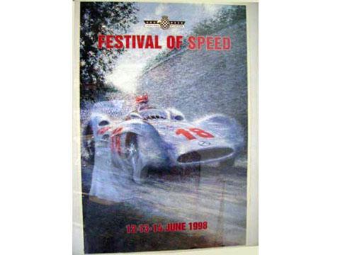 ポスター 「Festival of Speed」 額入り オートモビリア 印刷物 ポスター