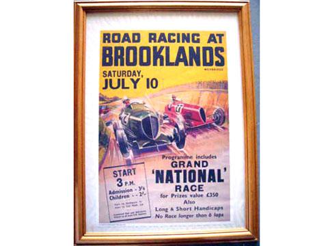 ポスター 額付き BROOKLANDS RACE オートモビリア 印刷物 ポスター