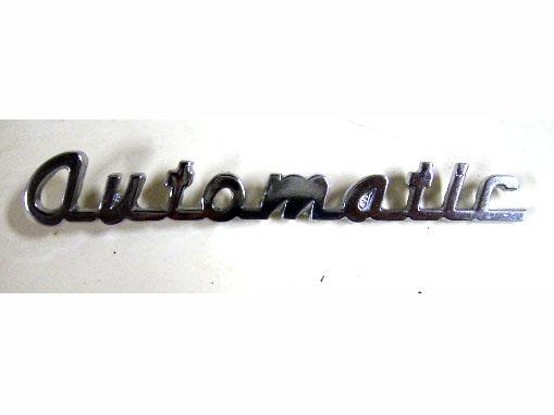 バッジ (リア) Automatic 社外 新品 英国車・MINIのレアパーツ エンブレム類(Emblem)