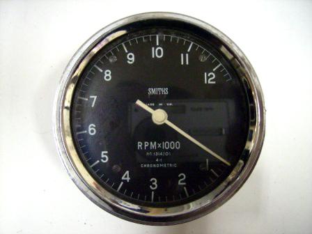 タコメーター スミス 機械式 中古 英国車・MINIのレアパーツ 計器類
