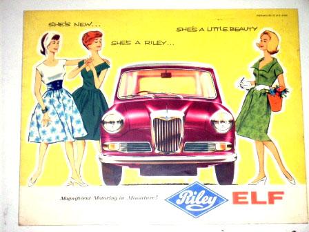 Riley Elf オリジナル 当時もの オートモビリア 印刷物 カタログ