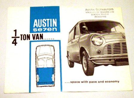オートモビリア 印刷物 カタログ カタログ Mini Austin Seven オリジナル 当時もの