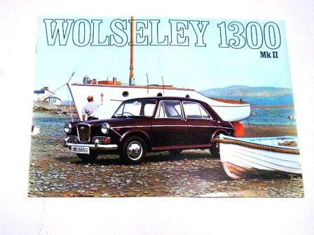 1968y' Wolseley 1300オリジナル 当時もの オートモビリア 印刷物 カタログ