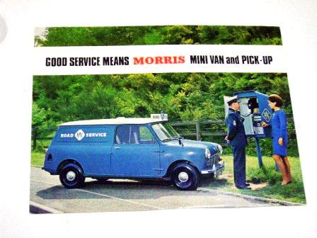 オートモビリア 印刷物 カタログ カタログ Morris Mini Van&Pick-up オリジナル 当時もの