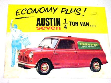 Austin Seven Van オリジナル 当時もの オートモビリア 印刷物 カタログ