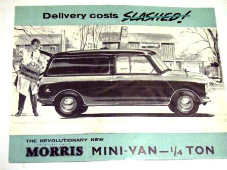 オートモビリア 印刷物 カタログ カタログ Morris Mini Vanオリジナル 当時もの