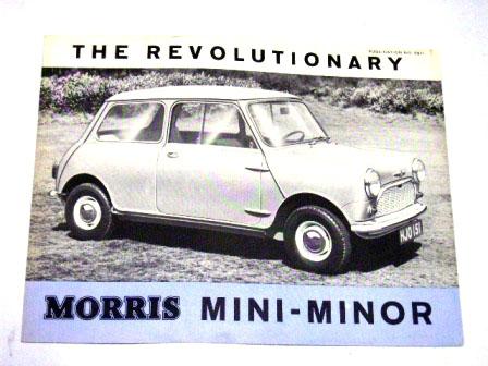 オートモビリア 印刷物 カタログ カタログ Morris Mini Minor オリジナル 当時もの