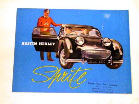 Austin Healey Sprite  オリジナル 当時物 オートモビリア 印刷物 カタログ