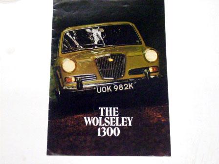 1970y'Wolseley 1300オリジナル 当時物 オートモビリア 印刷物 カタログ