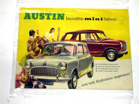オートモビリア 印刷物 カタログ カタログ Austin Mini Saloon オリジナル 当時物