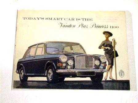 Vanden Plas Princess 1100 オリジナル 当時物 オートモビリア 印刷物 カタログ