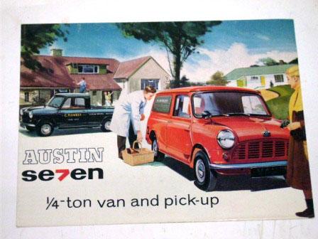 オートモビリア 印刷物 カタログ カタログ Austin Seven Van&Pick-up オリジナル 当時物