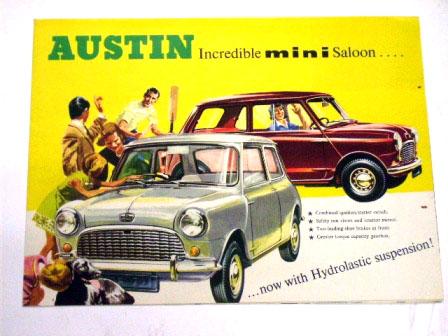 Austin Mini Saloon オリジナル 当時物 オートモビリア 印刷物 カタログ