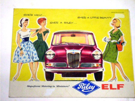 1961y' Riley Elfオリジナル 当時物 オートモビリア 印刷物 カタログ