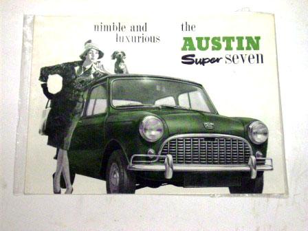 オートモビリア 印刷物 カタログ カタログ Austin Super Seven オリジナル 当時物
