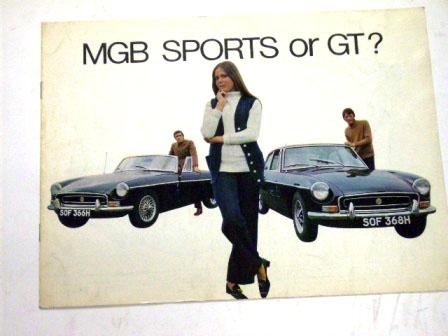 MGB Sport or GT オリジナル 当時物 オートモビリア 印刷物 カタログ